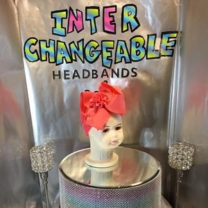 Infants and girls interchangeable headbands & bows